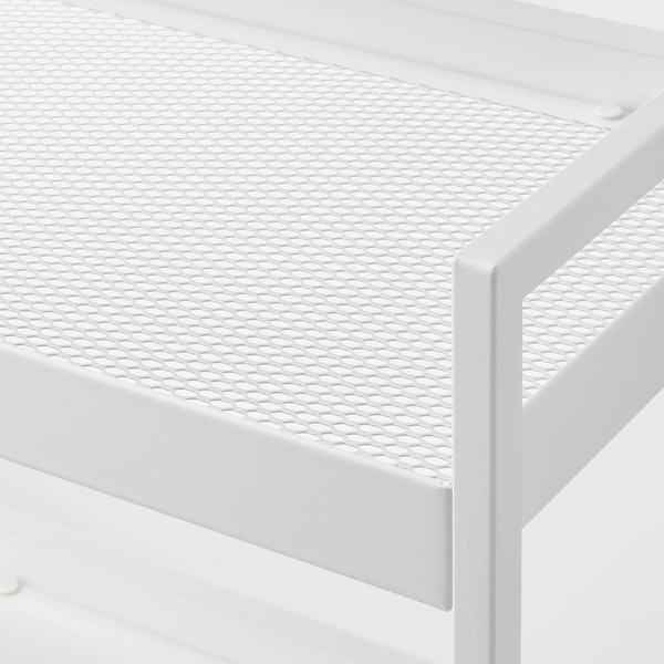 NISSAFORS Kolica, bela, 50.5x30x83 cm