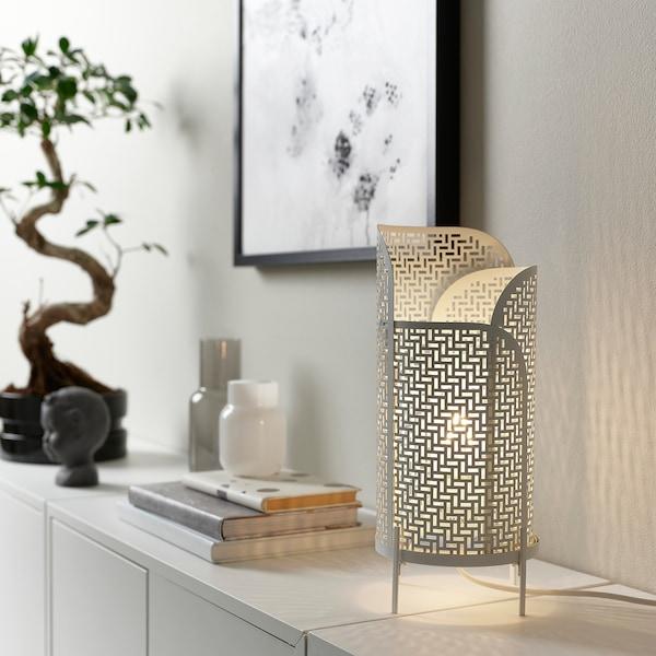 NOLLPUNKT Stona lampa, bela, 34 cm