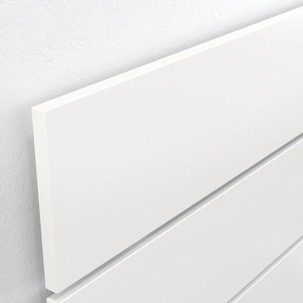 NORDLI Okvir krev. s odlag. i uzglavljem, bela, 140x200 cm