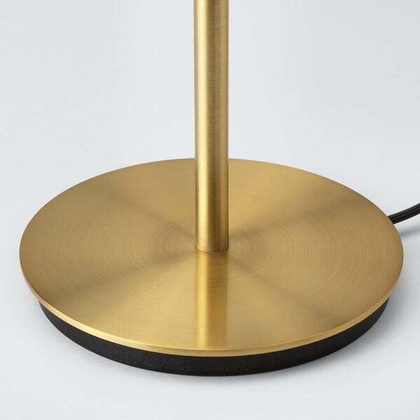 NYMÖ / SKAFTET Stona lampa, crna mesing/mesing