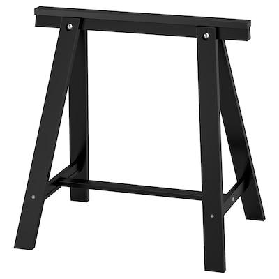 ODDVALD Nogari s prečkom, crna, 70x70 cm