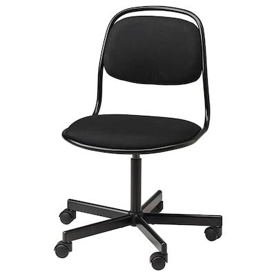 ÖRFJÄLL Kancelarijska stolica, crna/Vissle crna