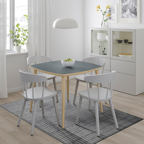 OMTÄNKSAM Sto, boja antracita/breza, 95x95 cm