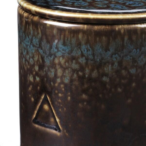 OSYNLIG Mirisna sveća u posudi s poklopcem, Duvan i med/crna plava, 10 cm