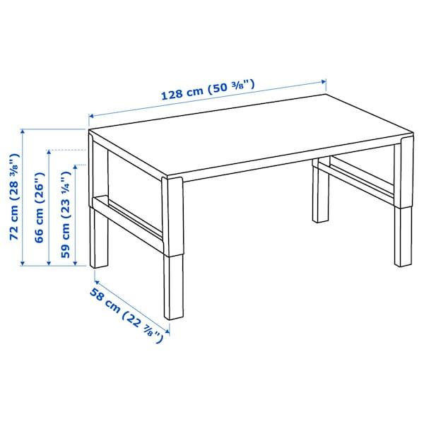 PÅHL Pisaći sto, bela, 128x58 cm