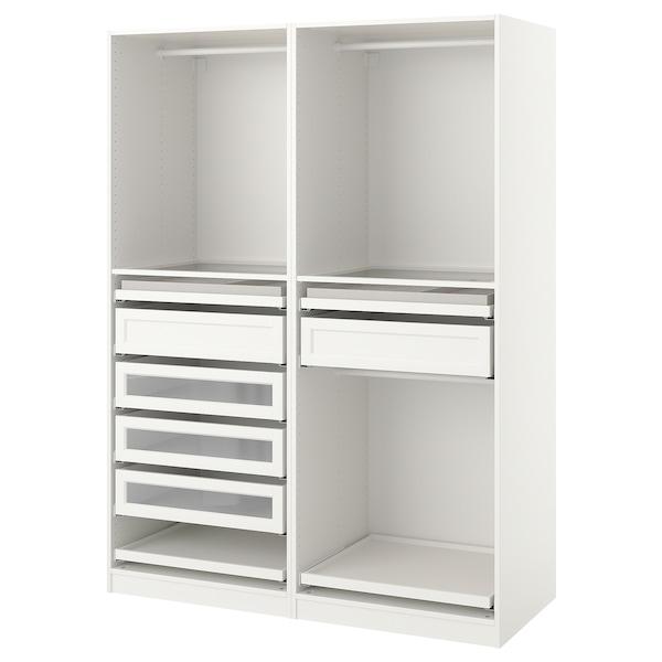 PAX Kombinacija garderobera, bela, 150x58x201 cm