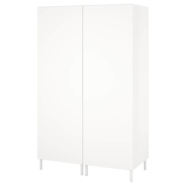 PLATSA Garderober, bela/Fonnes bela, 120x57x191 cm