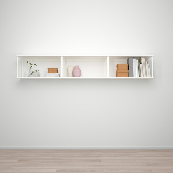 PLATSA Zidno rešenje za odlaganje, bela, 240x40x40 cm
