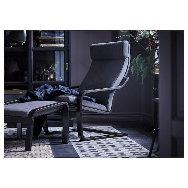 POÄNG Fotelja, crno-smeđa/Hillared boja antracita