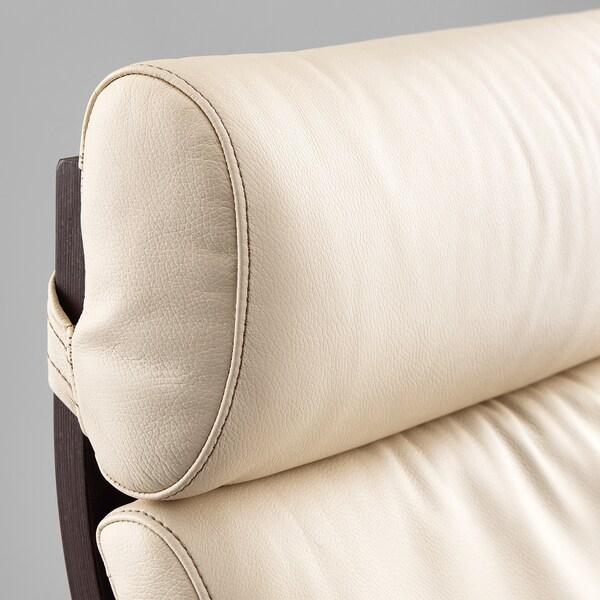 POÄNG Fotelja, crnosmeđa/Glose boja ljuske jajeta