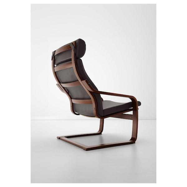 POÄNG Fotelja, smeđa/Glose tamnosmeđa