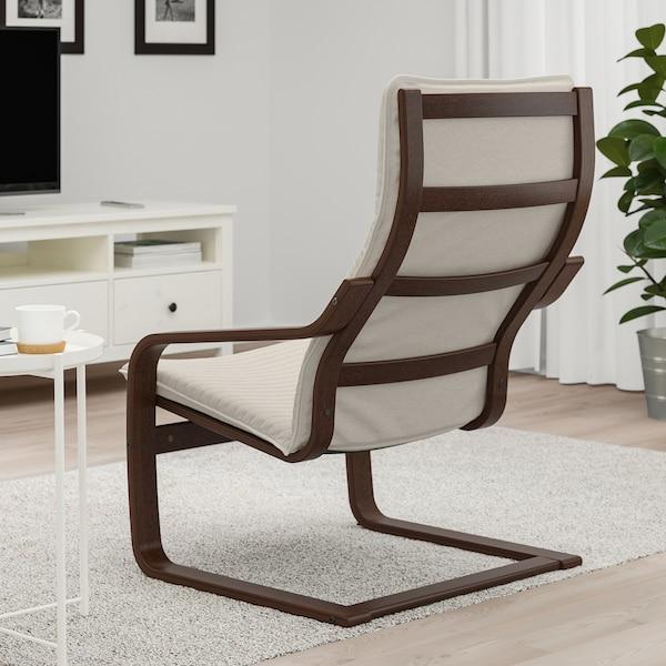 POÄNG Fotelja, smeđa/Knisa svetlobež