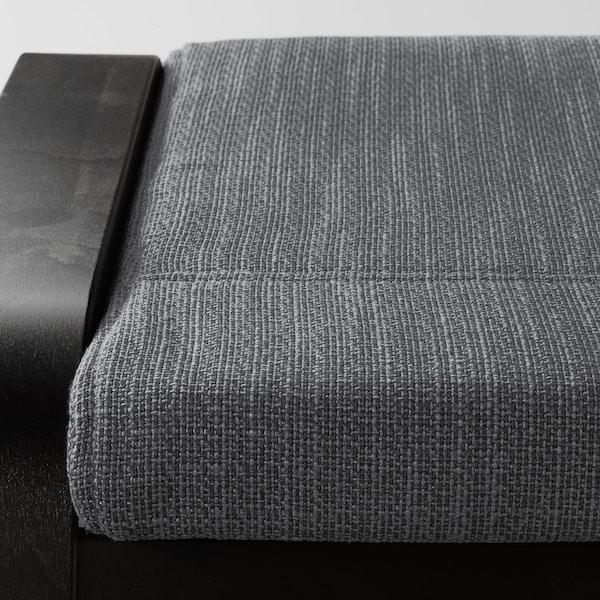 POÄNG Tapecirana stoličica, crno-smeđa/Hillared boja antracita