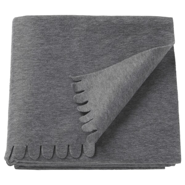 POLARVIDE Tanko ćebe, siva, 130x170 cm