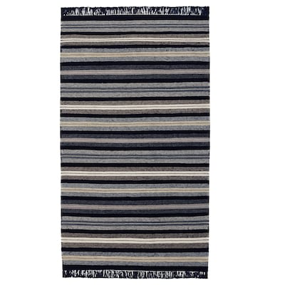 RÅVAROR Tepih, ravno tkani, tamnoplava, 90x155 cm
