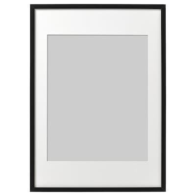 RIBBA Ram, crna, 50x70 cm