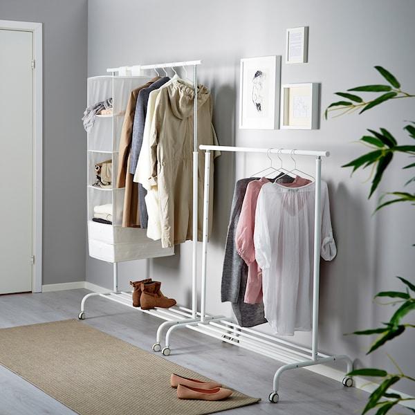 RIGGA stalak za odeću bela 111 cm 51 cm 126 cm 175 cm 35 kg