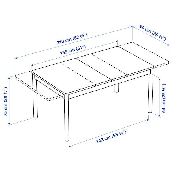 RÖNNINGE Produživi sto, breza, 155/210x90x75 cm