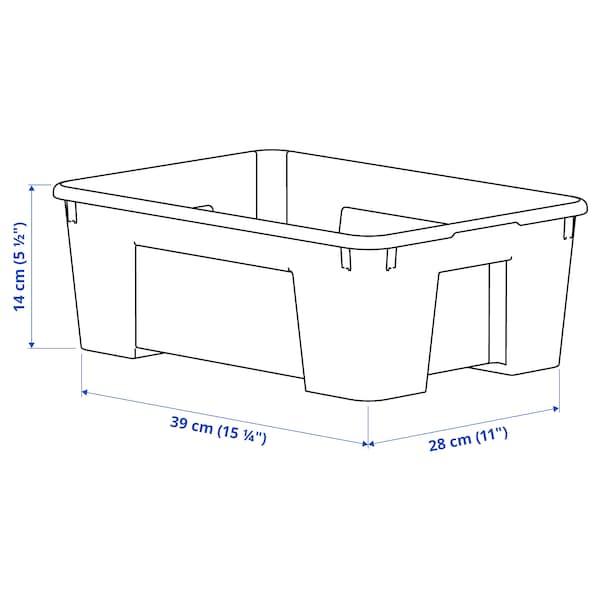 SAMLA Kutija, providno, 39x28x14 cm/11 l