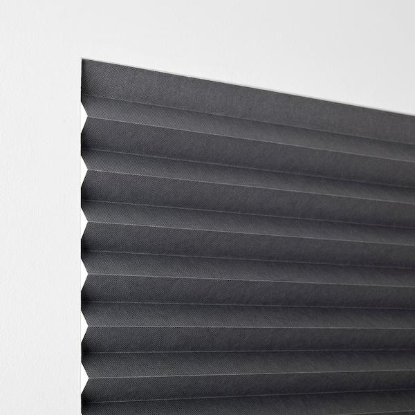 SCHOTTIS Plisirani zastor za zatamnjenje, tamnosiva, 100x190 cm