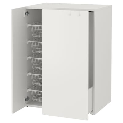 SMÅSTAD Garderober s izvlačnim elementom, bela, 80x57x108 cm