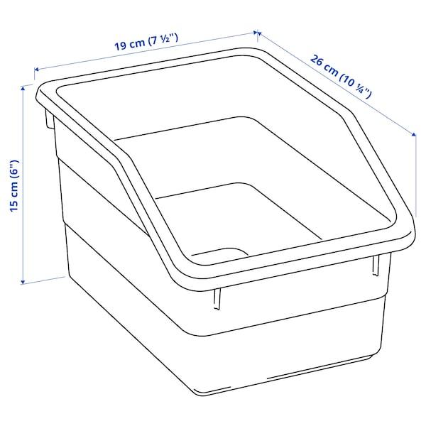 SOCKERBIT Kutija, bela, 19x26x15 cm