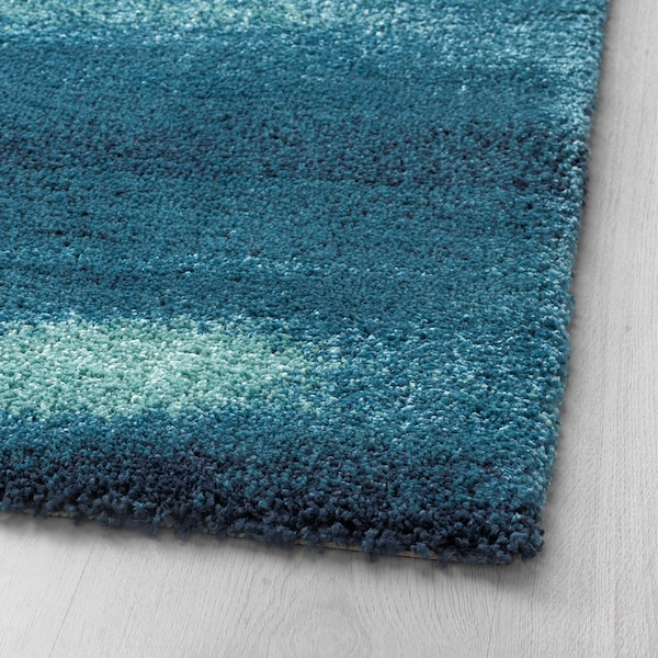 SÖNDERÖD Tepih, visoki flor, plava, 170x240 cm