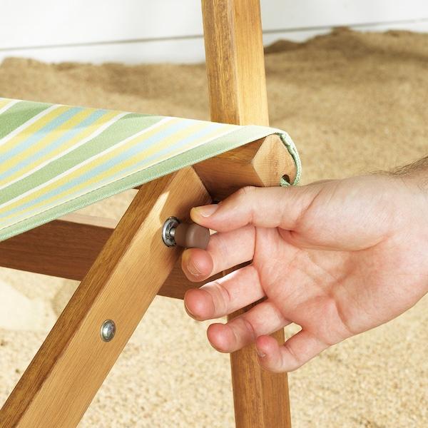 SOLBLEKT Stolica za ljuljanje, sklopivo eukaliptus/prugasto zelena