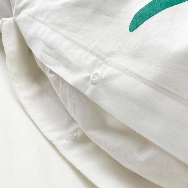 SOMMARASTER jorganska navlaka i jastučnica bela/raznobojno 152 kvadratni inč 1 komada 200 cm 150 cm 50 cm 60 cm