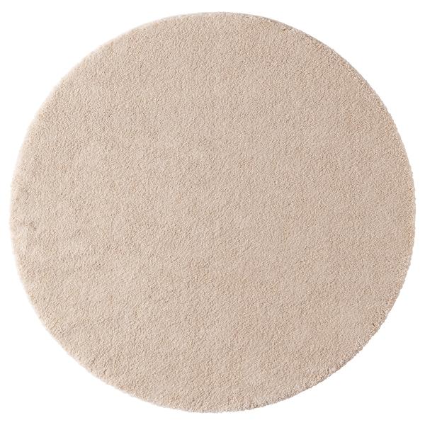 STOENSE Tepih, niski flor, prljavobela, 195 cm