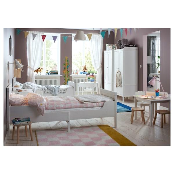 SUNDVIK Okvir produž.krevet s letv. osnovom, bela, 80x200 cm