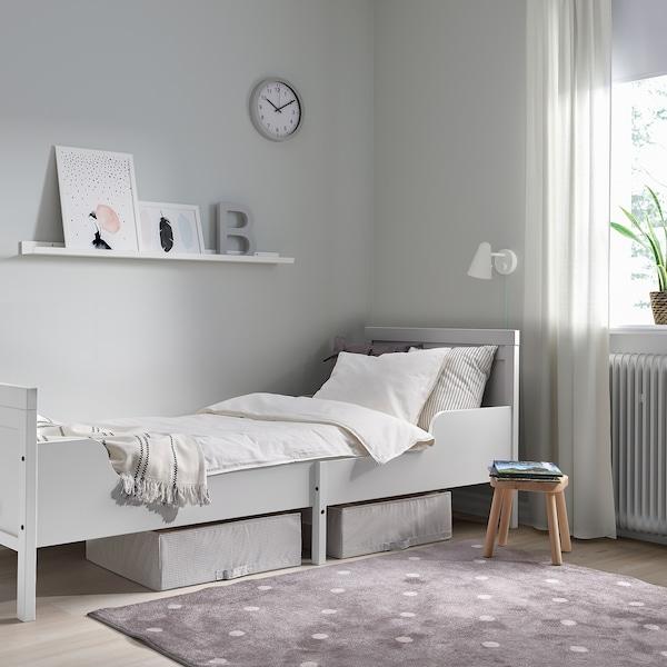 SUNDVIK Okvir produž.krevet s letv. osnovom, siva, 80x200 cm