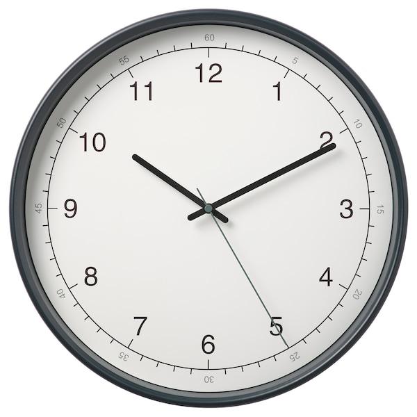 TAGGAD Zidni sat, bela/siva, 38 cm