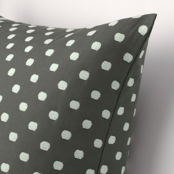 TAGGBRÄKEN Navlaka za jastučić, siva bela/dezen na tufne, 50x50 cm