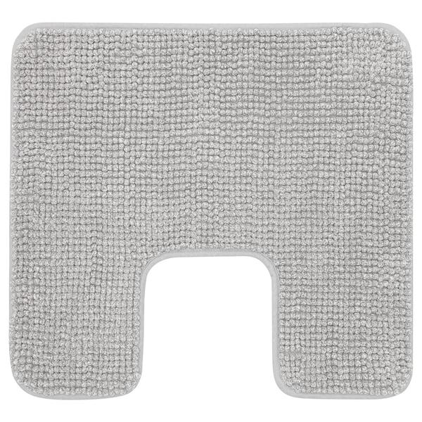 TOFTBO Prostirka za toalet, sivo-bela melirano, 55x60 cm