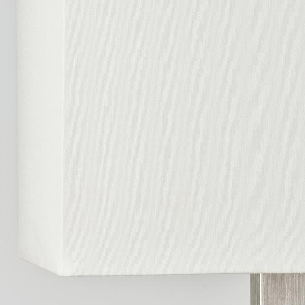 TOMELILLA Stona lampa, niklovano/bela, 36 cm