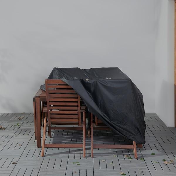 TOSTERÖ Navlaka za set nameštaja, crna, 145x145 cm