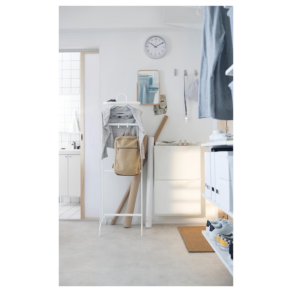 TRONES Cipelarnik/element za odlaganje, bela, 52x18x39 cm