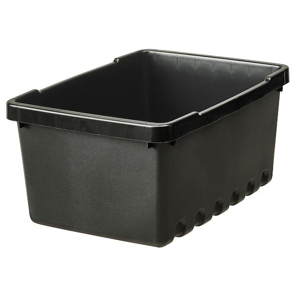 UPPSNOFSAD Kutija za odlaganje, crna, 25x17x12 cm/4 l