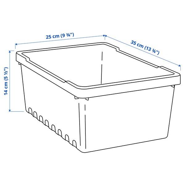 UPPSNOFSAD Kutija za odlaganje, crna, 35x25x14 cm/9 l