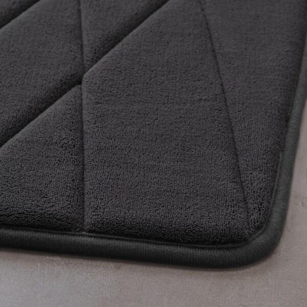 UPPVAN Kupatilska prostirka, boja antracita, 50x80 cm