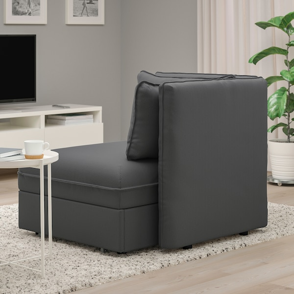 VALLENTUNA Modul. sofa ležaj s nasl. za leđa, Kelinge boja antracita