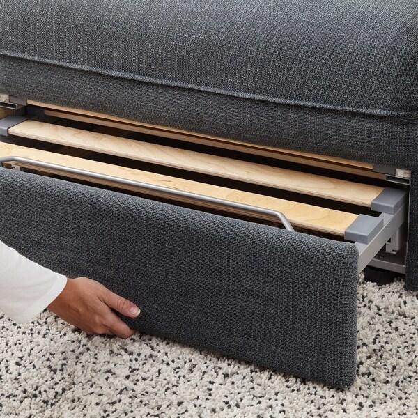 VALLENTUNA Modularni sofa ležaj, Hillared tamnosiva