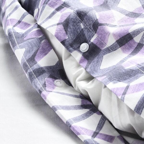 VATTENFRÄNE jorganska navlaka i jastučnica bela/ljubičasta 152 kvadratni inč 1 komada 200 cm 150 cm 50 cm 60 cm