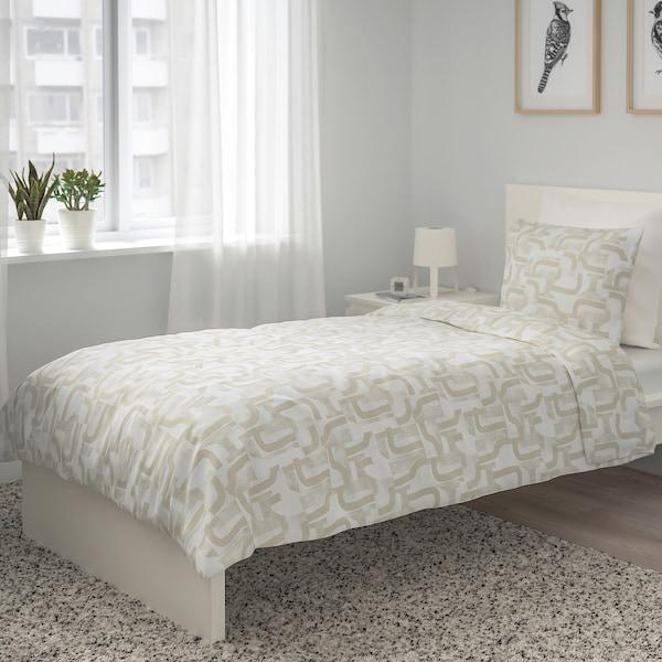 VINTERJASMIN jorganska navlaka i jastučnica bela/bež 104 kvadratni inč 1 komada 200 cm 150 cm 50 cm 60 cm