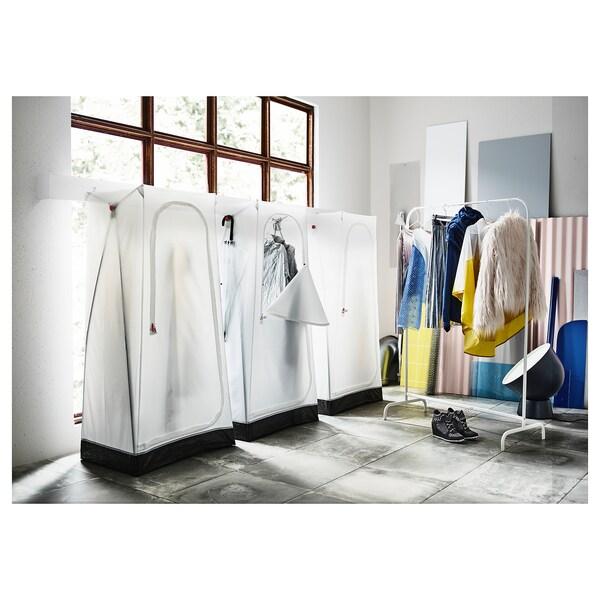 VUKU Garderober, bela, 74x51x149 cm