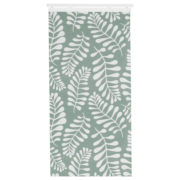 YRLA Panel-zavesa, zelena/bela, 60x300 cm