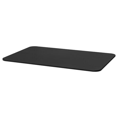 BEKANT سطح طاولة قشرة الدردار لون الأسود 120 سم 80 سم 1.6 سم