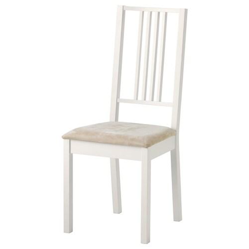 BÖRJE كرسي أبيض/Kungsvik رملي 110 كلغ 44 سم 55 سم 100 سم 37 سم 41 سم 47 سم