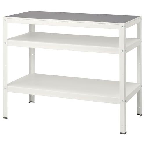 BROR طاولة أبيض 110 سم 55 سم 88 سم 60 كلغ